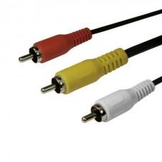 Интерфейсный кабель RCA тюльпан SHIP SH8053-3P 3 метра