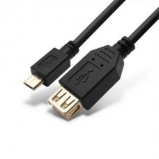 Переходник MICRO USB на USB Host OTG SHIP US109-0.15B 15 сантиметров