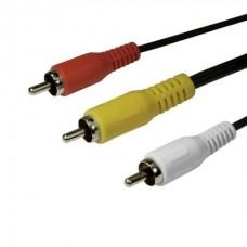 Интерфейсный кабель RCA (тюльпаны аудио-видео-звук) SHIP SH8053-1.5P