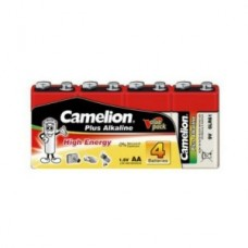 Батарейка Camelion 6F22  6LR61-SP4, Plus Alkaline, 9V