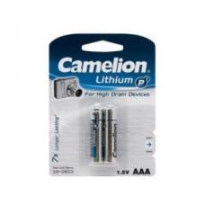 Батарейка Camelion AAA  FR03-BP2, Lithium P7, 1.5V
