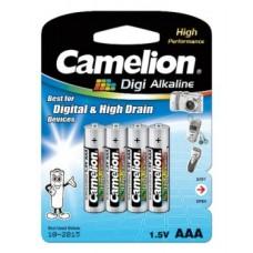 Батарейка Camelion AAA  LR03-BP4DG, Digi Alkaline, 1.5V