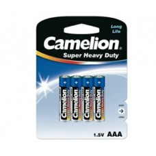 Батарейка Camelion AAA  R03P-BP4B, Super Heavy Duty, 1.5V